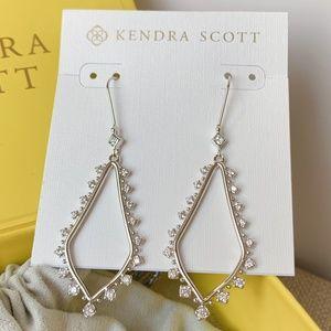 New Kendra Scott Silver Bea Earrings